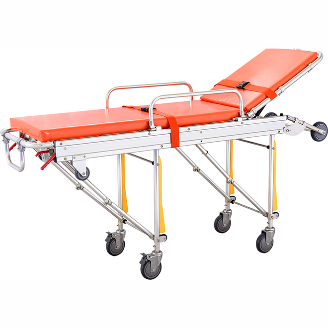 SKB039(D) Stainless Steel Patient Strecher Trolley